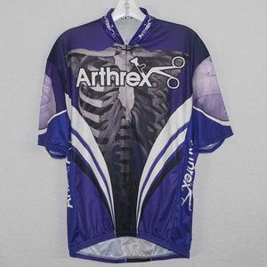 Vomax men's SS cycling jersey w/pockets EUC L
